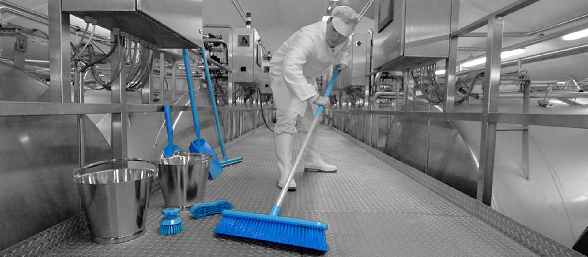 Reiniging, onderhoud en desinfectie voor de voedingsmiddelenindustrie.
